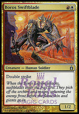 **2x FOIL Boros Swiftblade** RAV MTG Ravnica Uncommon MINT red white