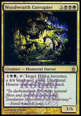 **1x FOIL Woodwraith Corrupter** RAV MTG Ravnica Rare MT black green