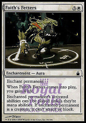 **1x FOIL Faith's Fetters** RAV MTG Ravnica Common MINT white