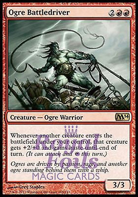 **1x FOIL Ogre Battledriver** MTG M14 2014 Core Set Rare MINT red
