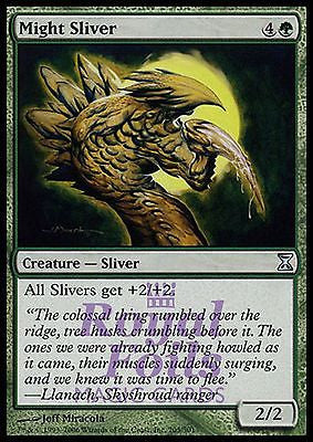 **1x FOIL Might Sliver** TSP MTG Time Spiral Uncommon NM green