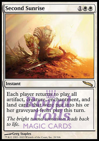 **1x FOIL Second Sunrise** MDN MTG Mirrodin Rare MINT white