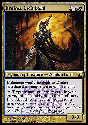 **1x FOIL Dralnu, Lich Lord** TSP MTG Time Spiral Rare MINT blue black