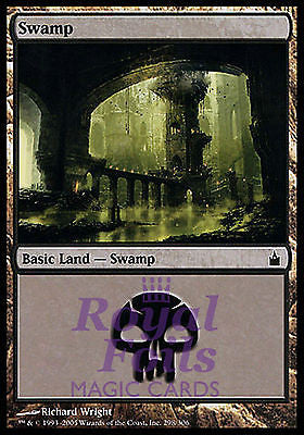 **2x FOIL Swamp #298** RAV MTG Ravnica MINT basic land black