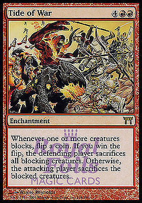 **1x FOIL Tide of War** CHK MTG Champions Kamigawa Rare MINT red
