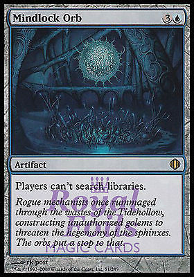 **1x FOIL Mindlock Orb** ALA MTG Shards of Alara Rare MINT blue artifact