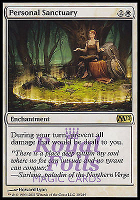 **1x FOIL Personal Sanctuary** MTG M12 Magic 2012 Core Set Rare MINT white