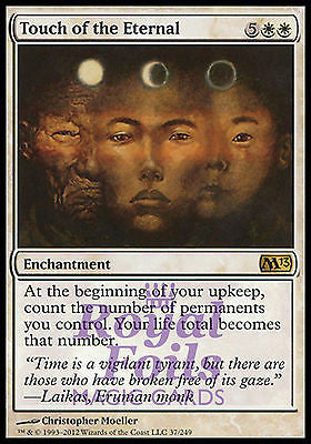 **2x FOIL Touch of the Eternal** MTG M13 Core Set Rare MINT white