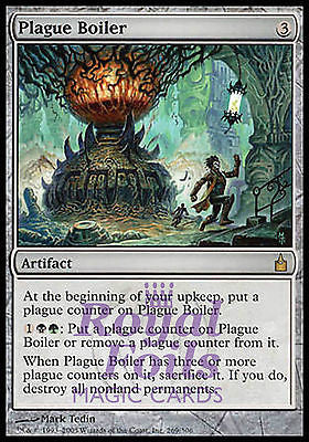 **1x FOIL Plague Boiler** RAV MTG Ravnica Rare MINT artifact black green