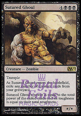 **2x FOIL Sutured Ghoul** MTG M12 Magic 2012 Core Set Rare MINT black