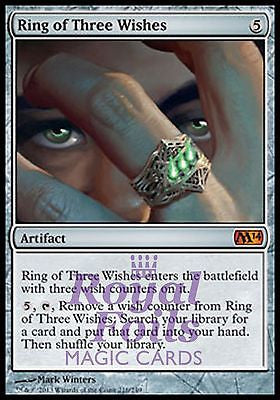 **1x FOIL Ring of Three Wishes** MTG M14 2014 Core Set Mythic MINT artifact