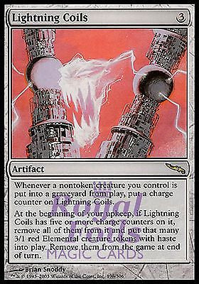 **1x FOIL Lightning Coils** MDN MTG Mirrodin Rare MINT artifact