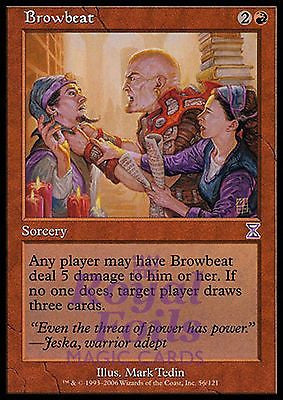 **1x FOIL Browbeat** TSS MTG Time Spiral Timeshifted MINT red