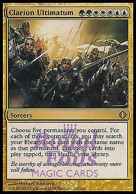 **1x FOIL Clarion Ultimatum** ALA MTG Shards of Alara Rare MINT green white blue