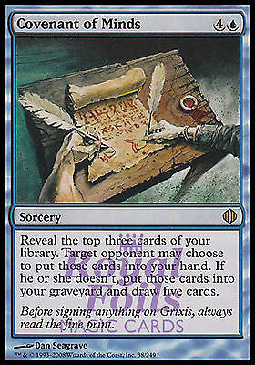 **1x FOIL Covenant of Minds** ALA MTG Shards of Alara Rare MINT blue