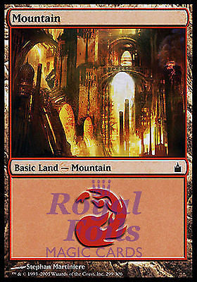 **2x FOIL Mountain #299** RAV MTG Ravnica MINT basic land red