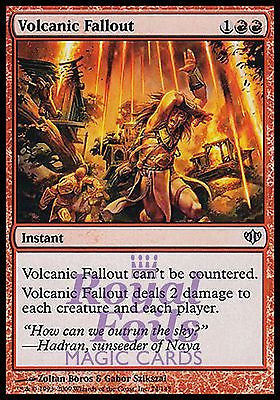**1x FOIL Volcanic Fallout** CON MTG Conflux Uncommon MINT red