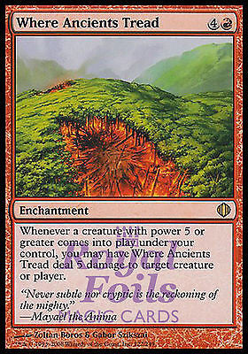 **1x FOIL Where Ancients Tread** ALA MTG Shards of Alara Rare MINT red