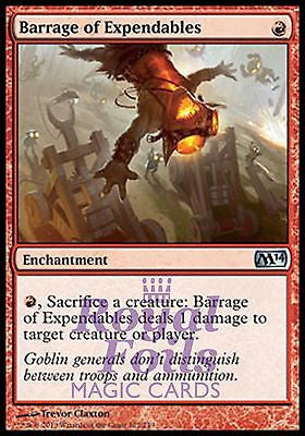 **1x FOIL Barrage of Expendables** MTG M14 Core Set Uncommon MINT red