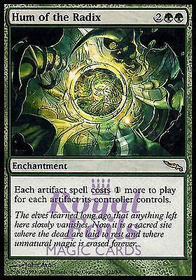 **1x FOIL Hum of the Radix** MDN MTG Mirrodin Rare MINT green