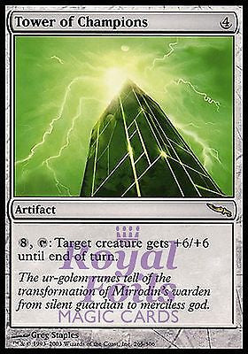 **2x FOIL Tower of Champions** MDN MTG Mirrodin Rare MINT artifact