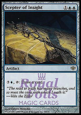 **1x FOIL Scepter of Insight** CON MTG Conflux Rare MINT blue artifact
