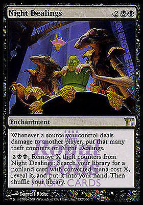 **1x FOIL Night Dealings** CHK MTG Champions Kamigawa Rare MINT black