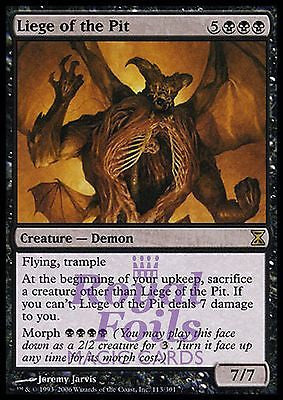 **1x FOIL Liege of the Pit** TSP MTG Time Spiral Rare MINT black
