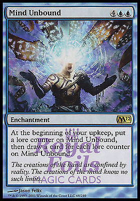 **1x FOIL Mind Unbound** MTG M12 Magic 2012 Core Set Rare MINT blue