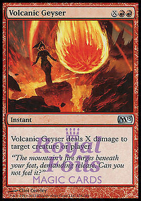 **4x FOIL Volcanic Geyser** MTG M13 Core Set Uncommon MINT red