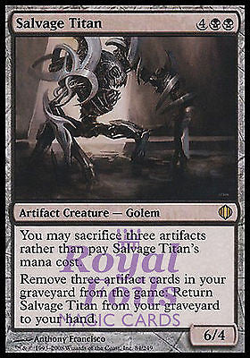 **2x FOIL Salvage Titan** ALA MTG Shards of Alara Rare MINT black artifact