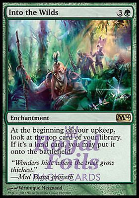 **1x FOIL Into the Wilds** MTG M14 2014 Core Set Rare MINT green