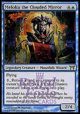 **1x FOIL Meloku the Clouded Mirror** CHK MTG Champions Kamigawa Rare MINT blue