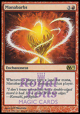 **1x FOIL Manabarbs** MTG M12 Magic 2012 Core Set Rare MINT red