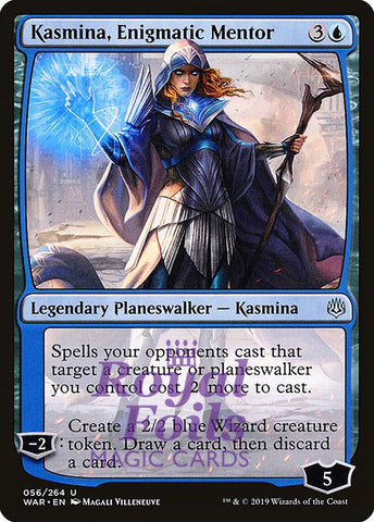 **1x FOIL Kasmina, Enigmatic Mentor** WAR MTG War of the Spark Uncommon MINT blue