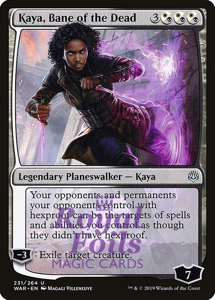 **1x FOIL Kaya, Bane of the Dead** WAR MTG War of the Spark Uncommon MINT white black