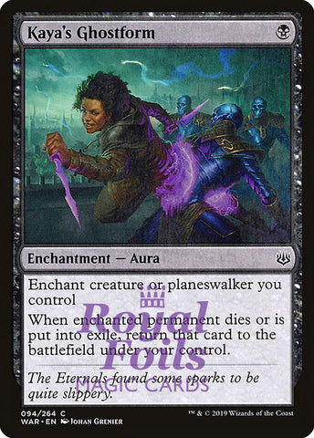 **1x FOIL Kaya's Ghostform** WAR MTG War of the Spark Common MINT black