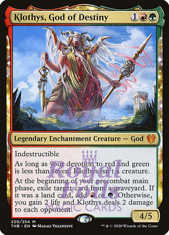 **1x FOIL Klothys, God of Destiny** THB MTG Theros Beyond Death Mythic MINT red green