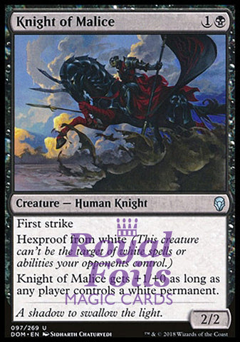 **2x FOIL Knight of Malice** DOM MTG Dominaria Uncommon MINT black