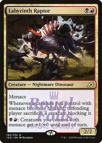 **2x FOIL Labyrinth Raptor** IKO MTG Ikoria Rare MINT black red
