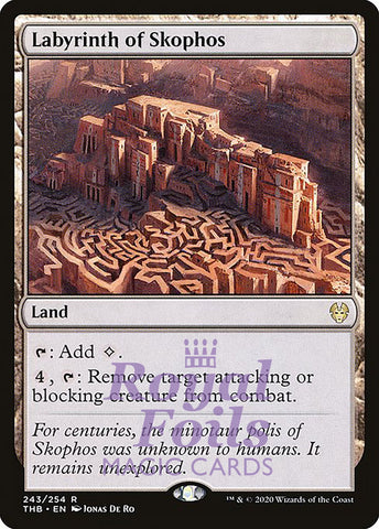 **1x FOIL Labyrinth of Skophos** THB MTG Theros Beyond Death Rare MINT land