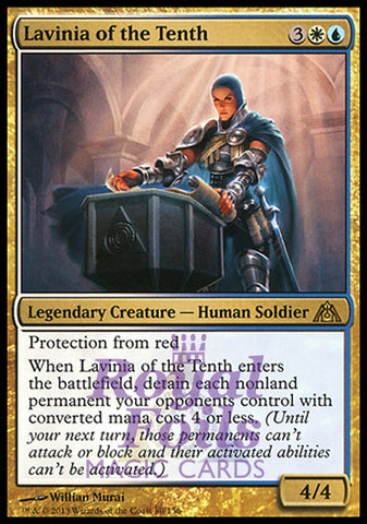 **1x FOIL Lavinia of the Tenth** DGM MTG Dragon's Maze Rare MINT white blue