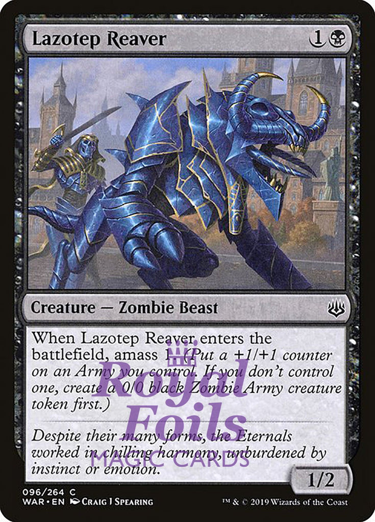 **1x FOIL Lazotep Reaver** WAR MTG War of the Spark Common MINT black