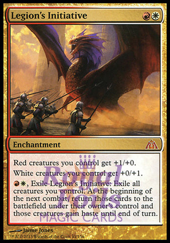 **1x FOIL Legion's Initiative** DGM MTG Dragon's Maze Mythic MINT red white