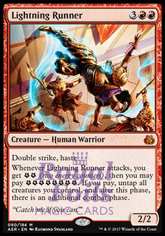 **1x FOIL Lightning Runner** AER MTG Aether Revolt Mythic MINT red
