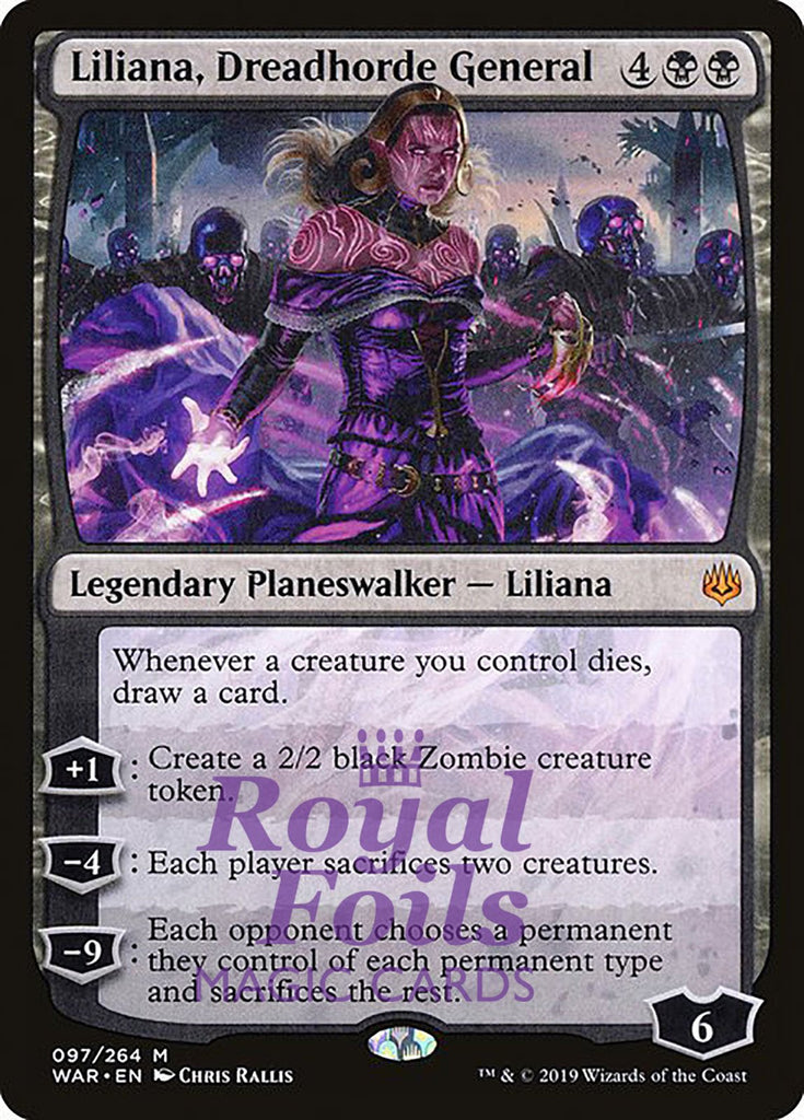 **1x FOIL Liliana, Dreadhorde General** WAR MTG War of the Spark Mythic MINT black
