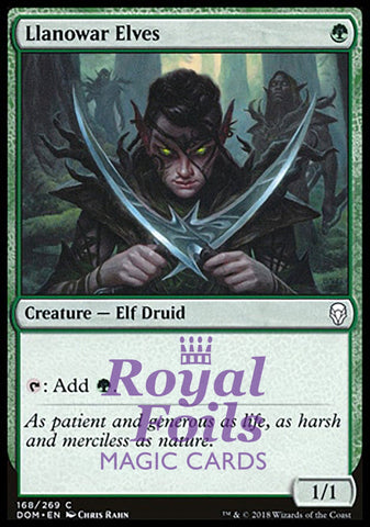 **1x FOIL Llanowar Elves** DOM MTG Dominaria Common MINT green