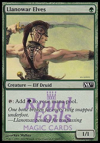 **1x FOIL Llanowar Elves** MTG M11 Core Set Common MINT green