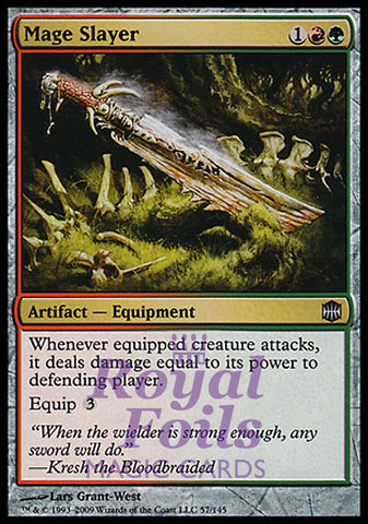 **1x FOIL Mage Slayer** ARB MTG Alara Reborn Uncommon MINT artifact red green