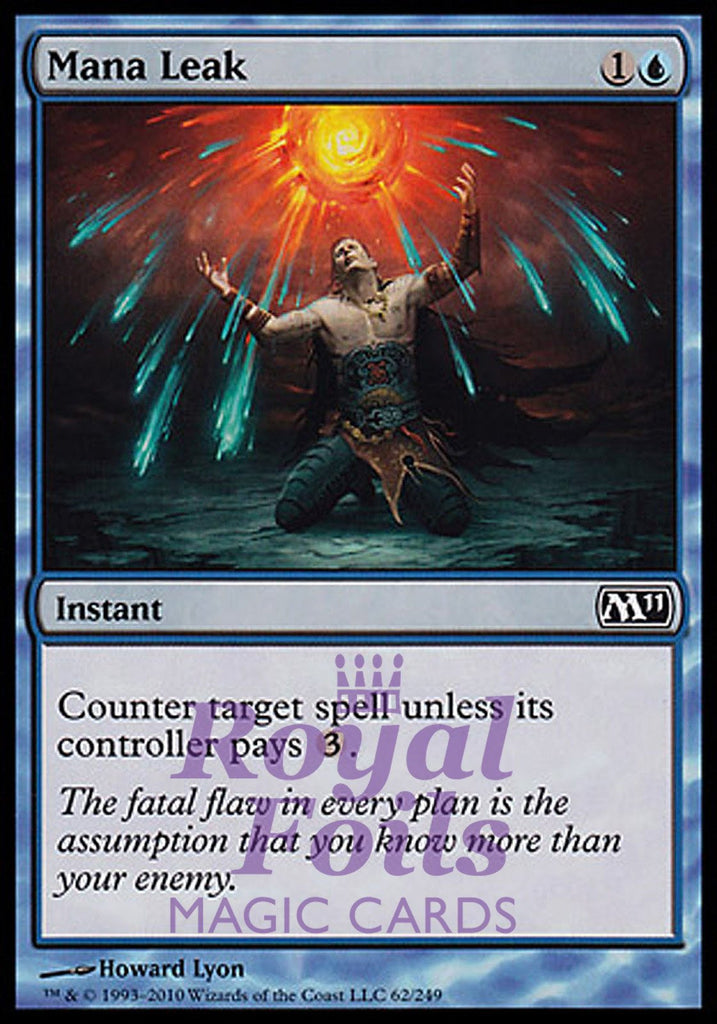 **1x FOIL Mana Leak** MTG M11 Core Set Common MINT blue